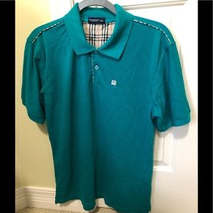 Burberry designer green polo XXL